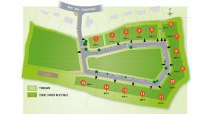 Plan de masse terrains kerellou Ergué Urbatys