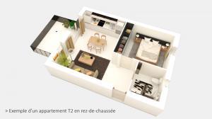 vue 3D d'un T2
