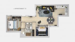 Appartement T3 - Plans masses
