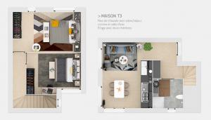 Maison T3 - Plans masses