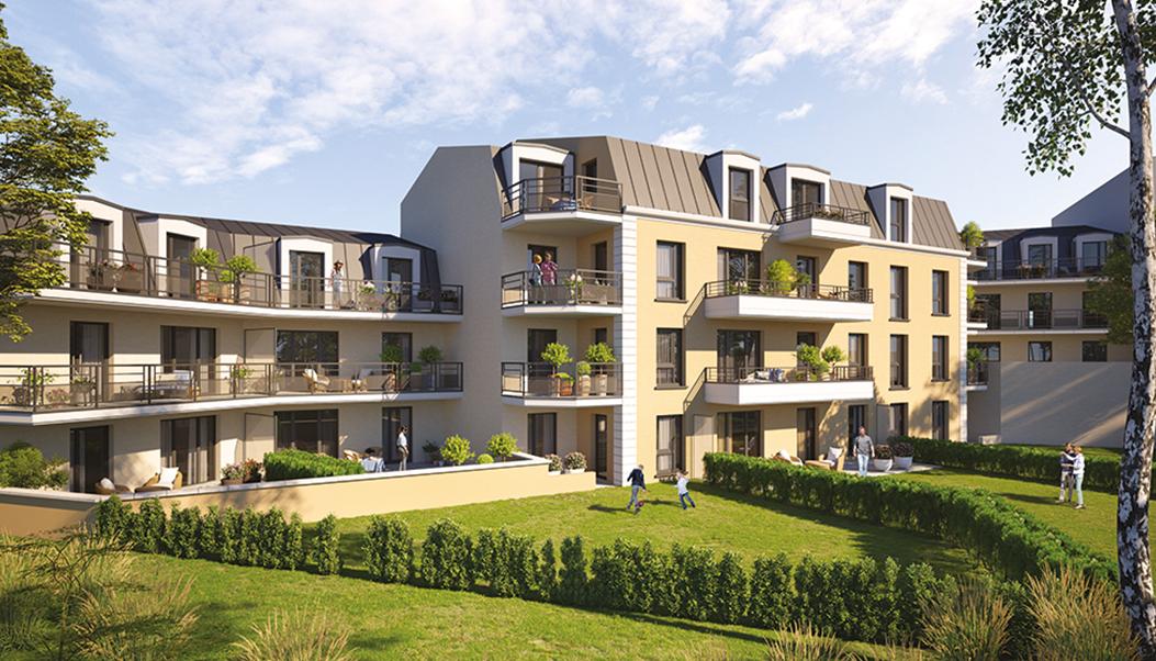 Résidence Chamberlin - Savigny-sur-Orge - Vue jardin